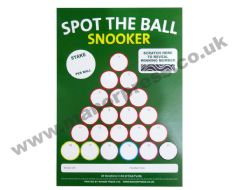 SPOT THE BALL SNOOKER - 1 PACKET